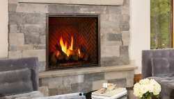 """Majestic Marquis Ii 36"""" Gas Fireplace Remote Front And Bricks Free Shipping"""
