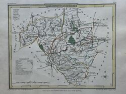 1809 Radnorshire Antique Hand Coloured County Map By Cole And Roper