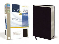 Niv, The Message, Parallel Bible, Large Print, Bonded Leather, Black Two
