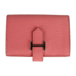 Hermes Wallet Shave Roseet Coin Purse Coin Pocket With Business Card Holder...