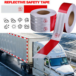 Reflective Trailer Safety Tape Conspicuity Tape Warning Sign Car Truck Red White