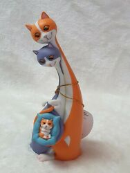 Rare Cool Cats By Toni Goffe Congratulations/adam And Eve Cat Figurine