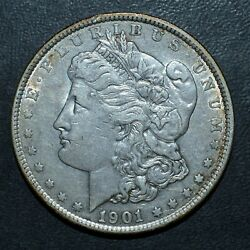 1901-p 1 Morgan Silver Dollar ✪ Au Almost Unc ✪ L@@k Now Scarce Date ◢trusted◣
