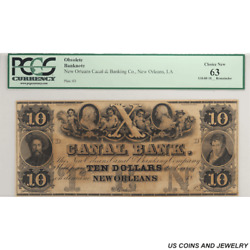 New Orleans Canal And Banking Co. , La Remainder Note, Pcgs 63 Ppq