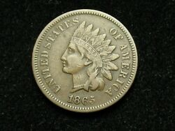 Fall Sale Extra Fine 1865 Indian Head Cent Penny W/ Full Liberty 138g