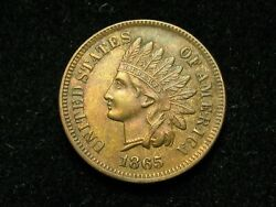 Must Go Sale Au-bu 1865 Indian Head Cent Penny W/ Full Liberty And Diamonds 139g
