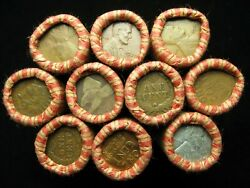 @ 10 Lincoln Wheat Cent Penny Rolls 500 Coins From Old Oregon Estate Horde @