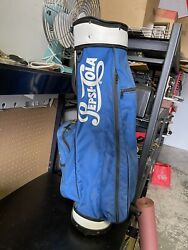 Rare Vintage Pepsi Cola Gte West Classic Golf Bag Blue/white Fast Shipping