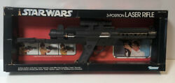 Vintage Star Wars 3 Position Laser Rifle Kenner 1979 Grail Item Small Box Rare