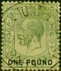 Bahamas 1926 Andpound1 Green And Black Sg125 Fine Used