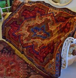 Gorgeous Antique French Sumptuous Plush Tablecloth / Throw / Rug 19th Century