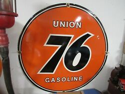 New Union 76 Large 30 In Porcelain Gas Oil Sign