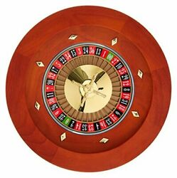 16 Deluxe Wooden Roulette With Rake