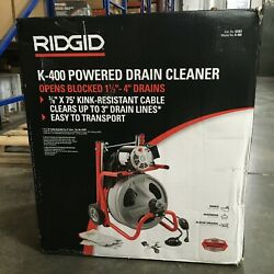 Rigid K-400 Drain Cleaning Drum Machine C-32 3/8 In. Integral Cable And Tool Set