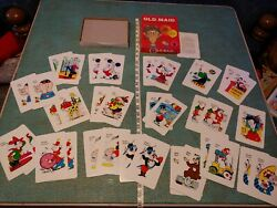 Vintage 1983 King Size Old Maid Card Game Edu-cards Complete Circus Pre-pc 80s