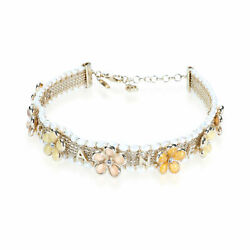 Costume Pearl And Resin Choker Necklace