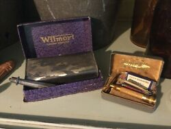 Gillette Gold Open Comb Ball End Safety Razor In Boxandnbsp+ Wilmort Crumb Sweeper