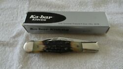 Kabar Stag 1981 Coke Bottle Club Knife 5 1/4 In.closed Excellent Condition