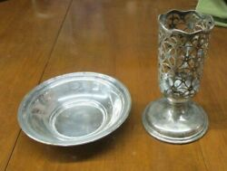 Lot Of 2 Sterling Silver Pieces 18.9 Ounces Below Melt For Scrap