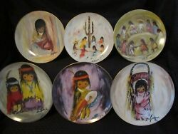 De Grazia Plates - 6 - Mix Of Children's And Holiday Series, Unicef