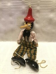 Zambiasi Pinocchio Wooden 13.5 In. Marionette/puppet No Strings