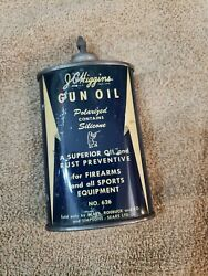 Rare Vintage Early Version Jc Higgins Gun Oil No 626 Lead Top Can Full