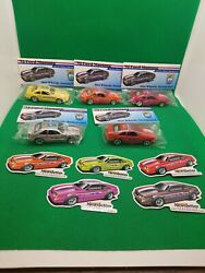 Lot Of 5 Hot Wheels Newsletter '92 Mustangs With Matching Stickers