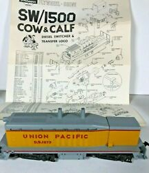 Ho Scale Sw/1500 Union Pacific Cow And Calf Diesel Switcher And Transfer Locomotive