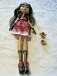 Ever After High Hat-tastic Cerise Hood Doll Original Outfit Shoes Jewelry And More