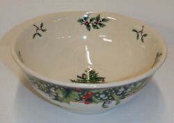 Spode Christmas Tree 2006 Annual Collection Serving Bowl Stars And Holly Border