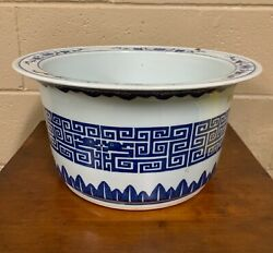 A Chinese Porcelain Blue And White Jardiniere