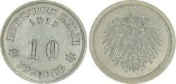 10 Pfennig 1915 A Very Rare Probe To J.13 And J.298 Xf 42769