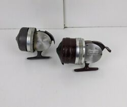 Shakespeare 1795 And 1777 Wondercast Push Button Fishing Reels Vintage Working Lot