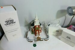 Dept. 56 Old North Church New England Village Series 59323 Retired W/fences