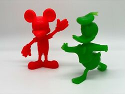 Vintage Disney Collectibles Mickey Mouse And Donald Duck Rare 1971 Figurines