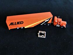 Excellent Con-cor Allied Sleeper Tractor W/48' Moving Trailer N Scale 1160