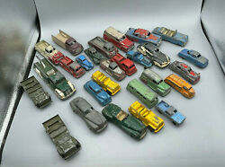 Antique Lot 27 Tootsietoy Die Cast Iron Metal Cars Trucks Many Different