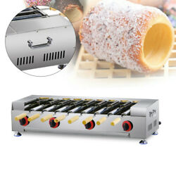 Stainless Steel Bread Dessert Oven Grill Machine Commercial Lpg Gas W/8x Roller