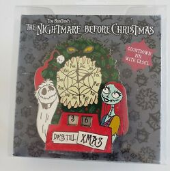 Disney Nightmare Before Christmas Countdown Jack And Sally Easel Le Pin-free Shpg