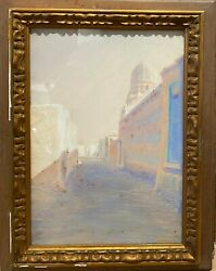 Painting Antique Orientalist - Egypt The Cairo 1908 - Signed Orientalism