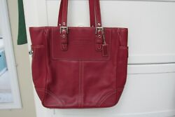 Coach Red Shoppers Tote $65.00