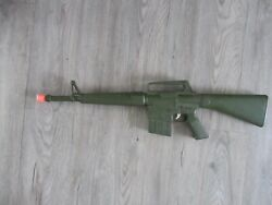 1970s Empire Plastic M16 Toy Rifle With Sound