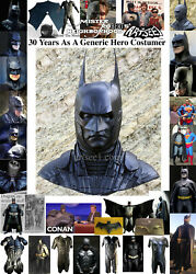 Your Home Made Batman Costume Suit Can Use New High Quality Latex Cowl Mask