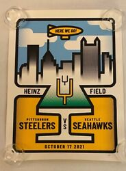 Limited Edition Pittsburgh Steelers Vs. Seattle Seahawksgame Day Poster 10-17-21