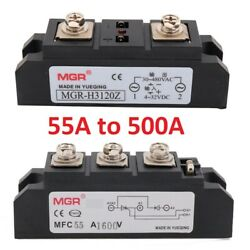 55a -500a Ssr Industrial Grade Solid State Relays Mgr Rectifier Module Dc To Ac