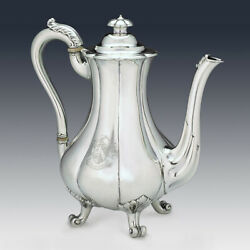 Sterling Silver Coffee Pot - Early Victorian - James Charles Edington -1843