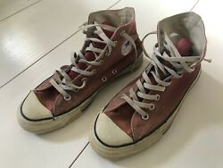 Vintage 1980andrsquos Converse Distressed Chuck Taylor All Stars Hi Top Usa 7.5
