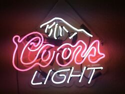 17 Coors Light Neon Signs Beer Cave Real Glass Handmade Sign Us Stock