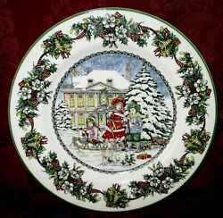 Spode World Of Christmas Carolling 4th In Series Plate 2008