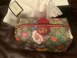 Nwt Authentic Ophidia Flora Gg Flower Make Up Bag Cosmetic Case Pouch